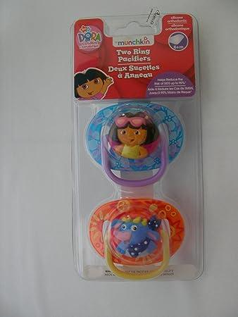 Amazon.com: Dora chupetes (6 + m)-2 Pk: Baby