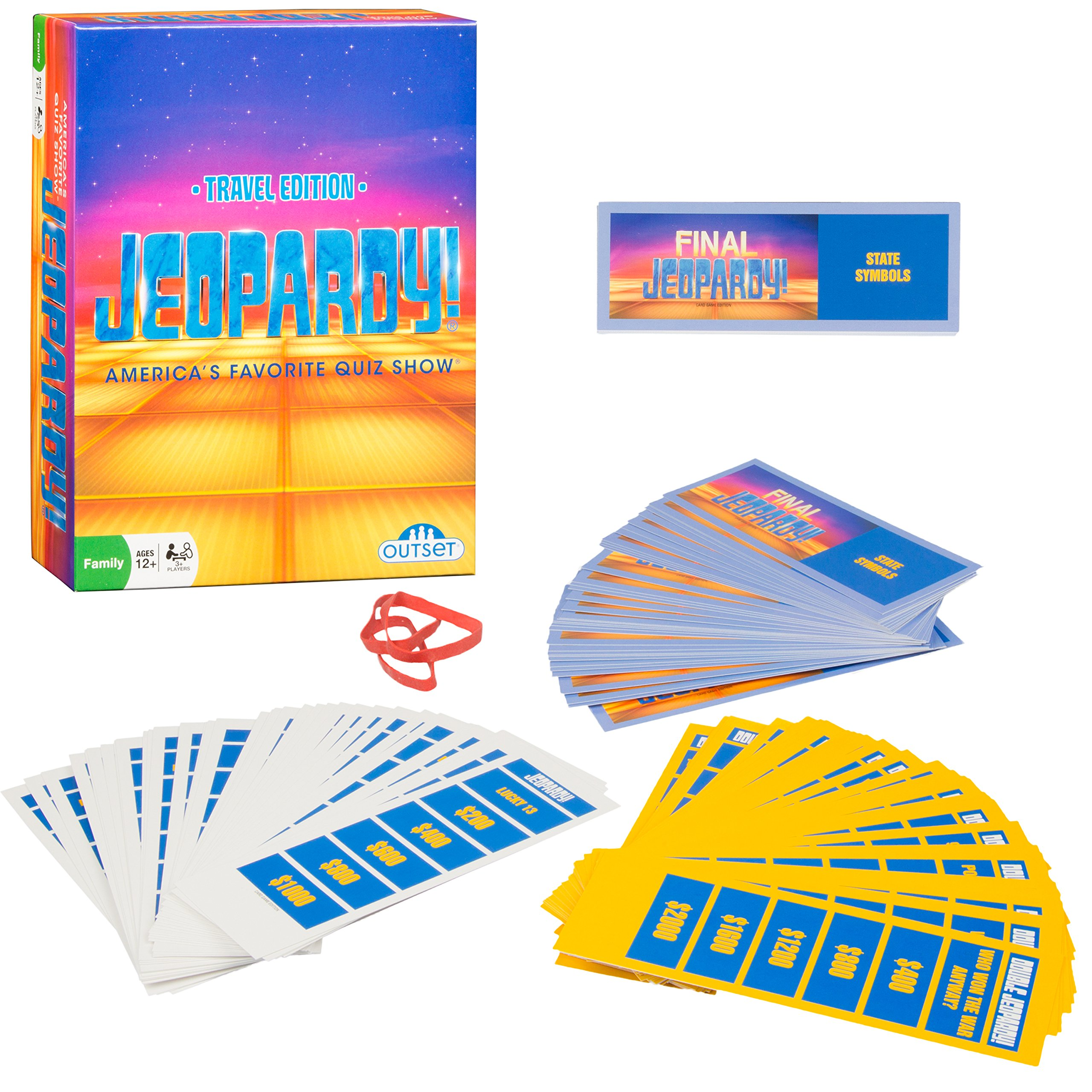 Jeopardy the Card Game - Travel Quiz Game With 108 Answers and Questions - Ages 12+ by Outset Media
