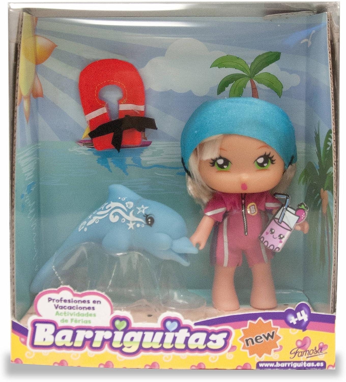 Amazon.es: Barriguitas Profesiones en Vacaciones - Figura Cuidadora de Delfines (Famosa 700013442): Juguetes y juegos