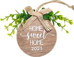 Kinadolores Welcome Sign,Mini,Creative,Idyllic,Retro,Wall,Porch,Window,Farmhouse,Home Decor,Suitable for Outdoor,Indoor, Holiday, Xmas,and All Season,Wooden(2021/2022home Sweet Home)