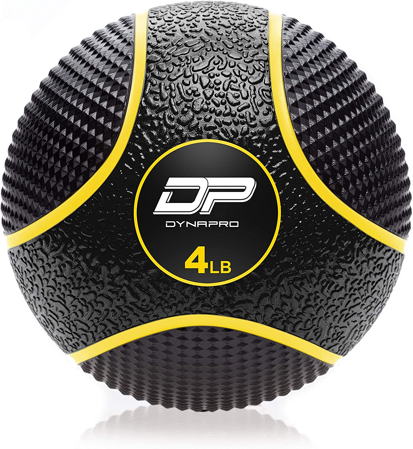 DYNAPRO Medicine Ball Exercise Ball, Durable Rubber, Consistent Weight Distribution, Comfort Textured Grip for Strength Training