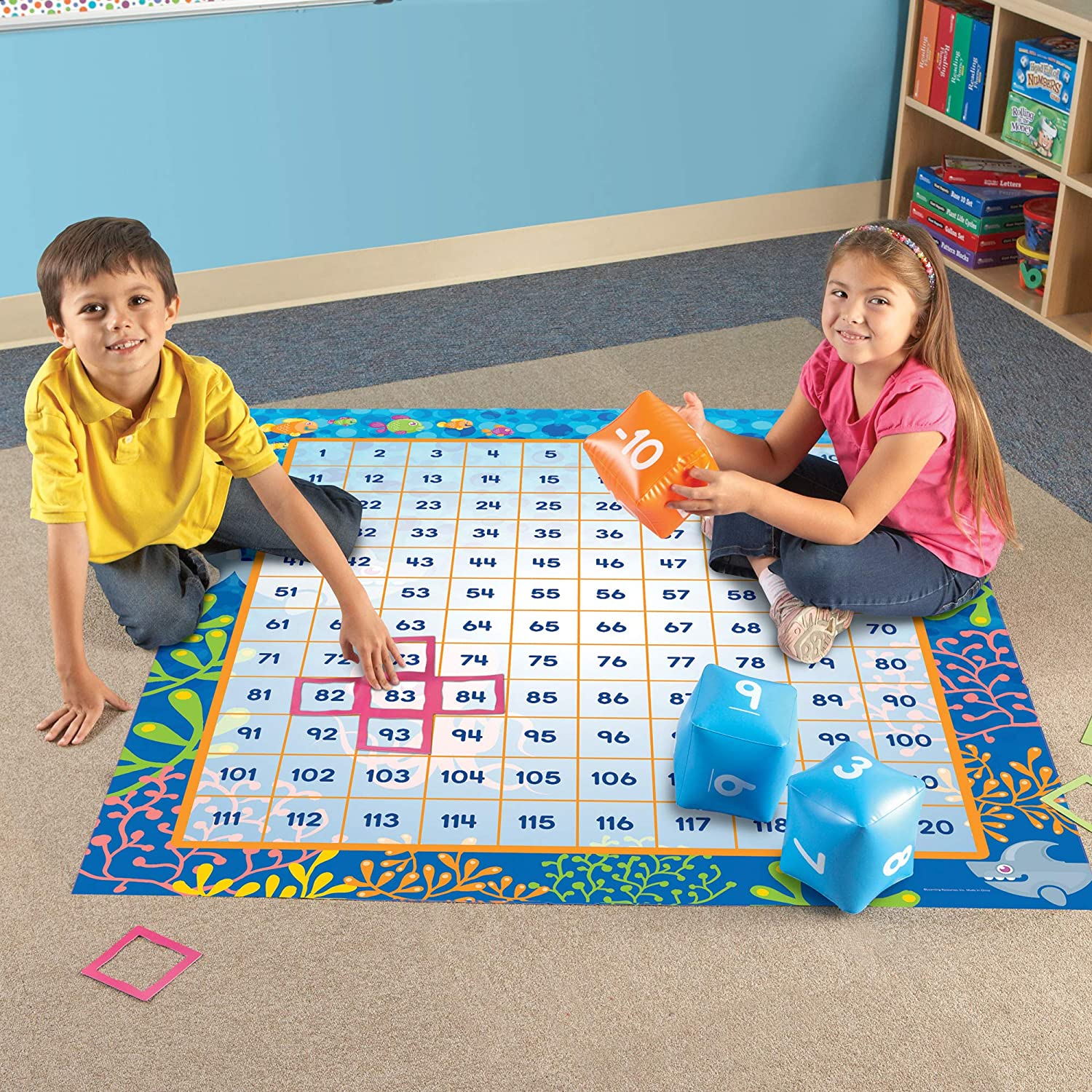 Learning Resources- Juego de Alfombra 120 Make a Splash, Color (LER1772): Amazon.es: Juguetes y juegos