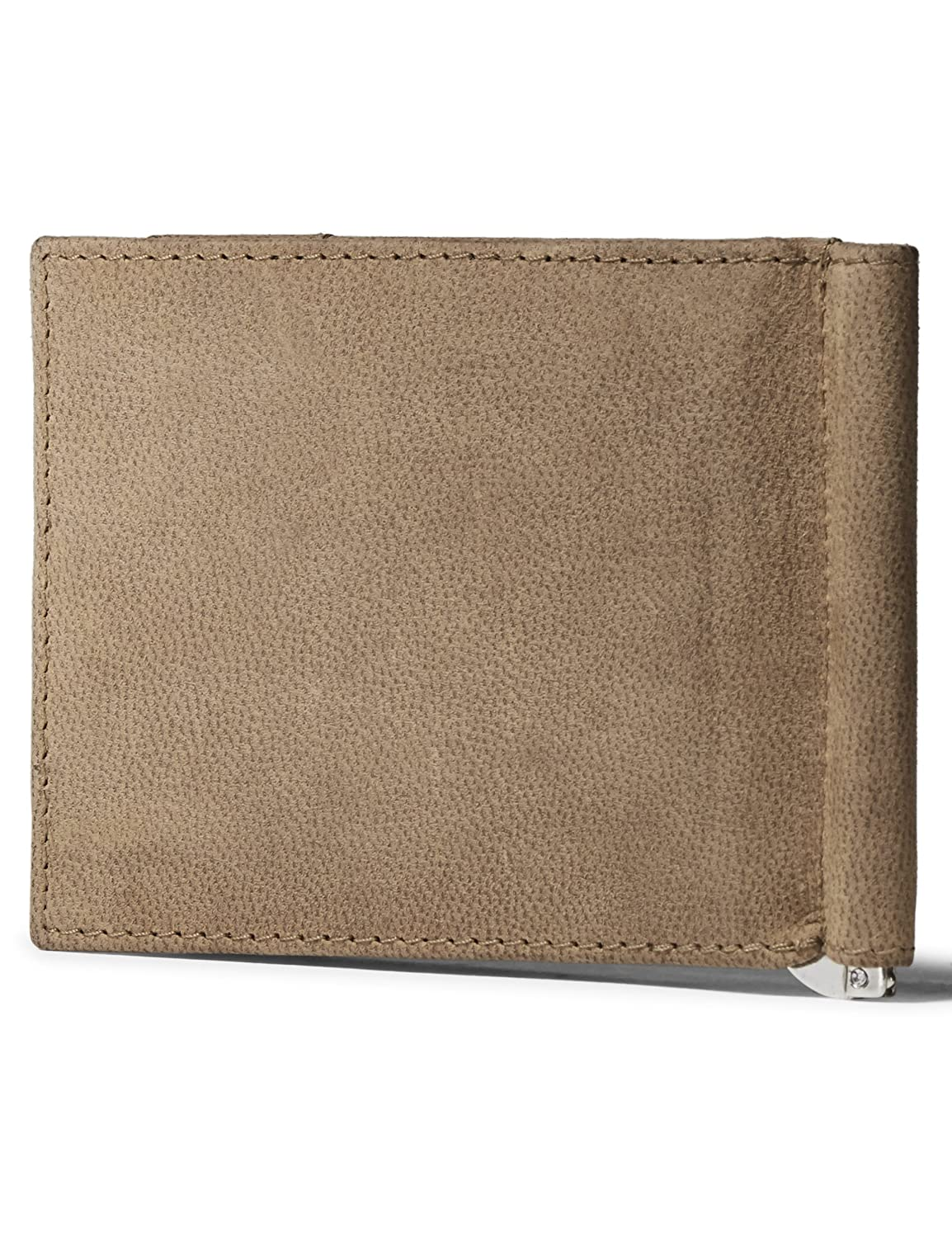 18a5924ae8ee Leather Architect Men's 100% Leather Bifold RFID Blocking Wallet with Money  Clip