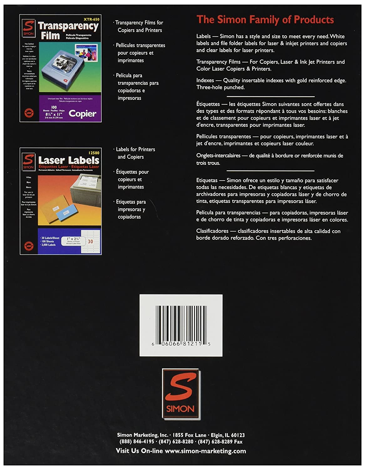 Amazon.com : Simon 81211 Copier labels, 8 1/2 x 11, white, 100 per box : Office Products