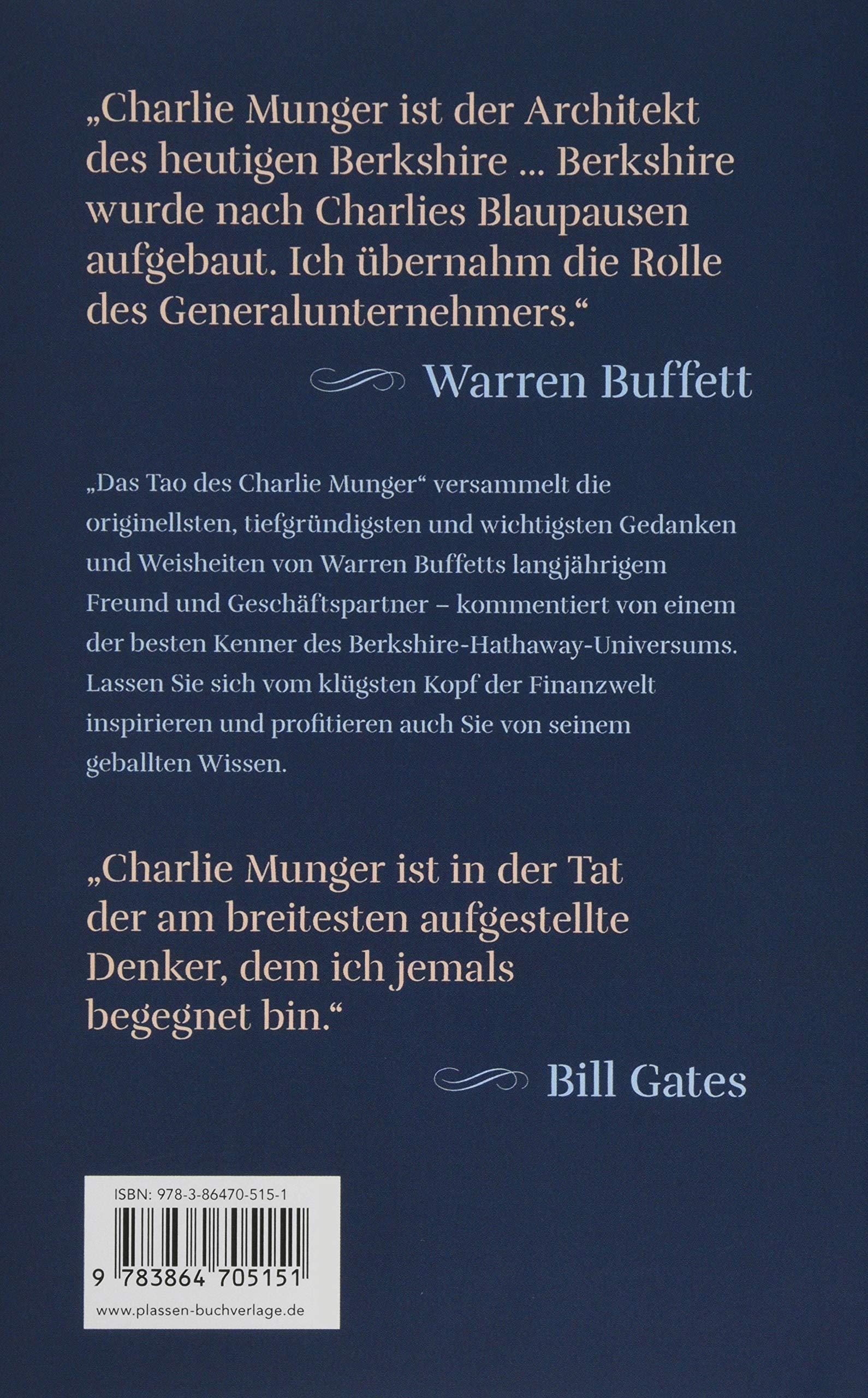 Das Tao Des Charlie Munger Der Berkshire Hathaway