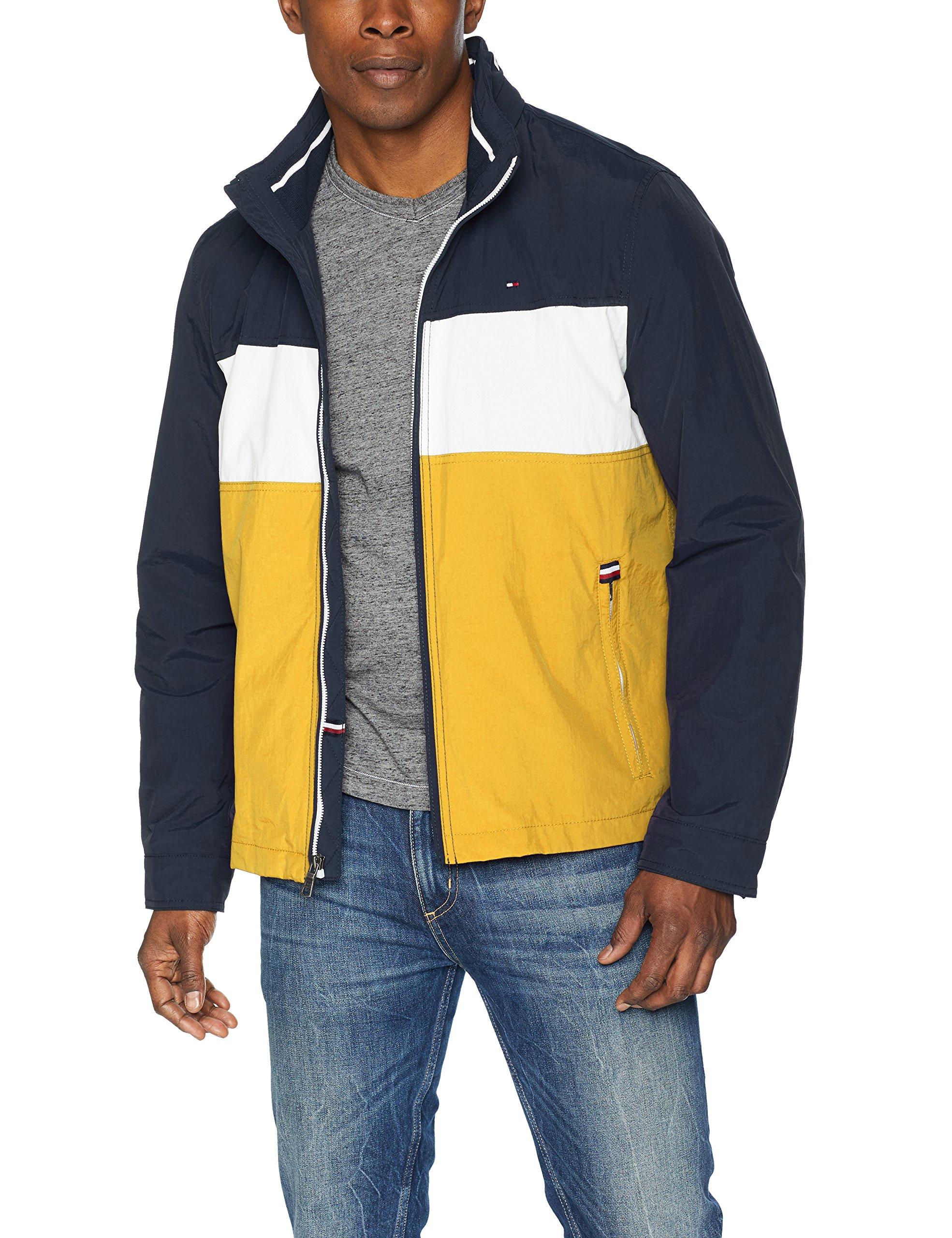 2d6a85d974a325 Galleon - Tommy Hilfiger Men s Stand Collar Lightweight Yachting Jacket