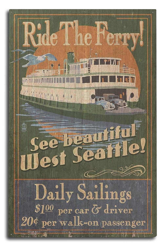 超激安 West Seattle 15oz Ferry Vintage Sign Vintage 15oz Mug Sign LANT-3P-15OZ-WHT-41396 B07364TT9Z 10 x 15 Wood Sign 10 x 15 Wood Sign, グランヴァン:6264dc09 --- podolsk.rev-pro.ru