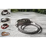 Leather Bolo Wrap Bracelet - Bellabeat Leaf