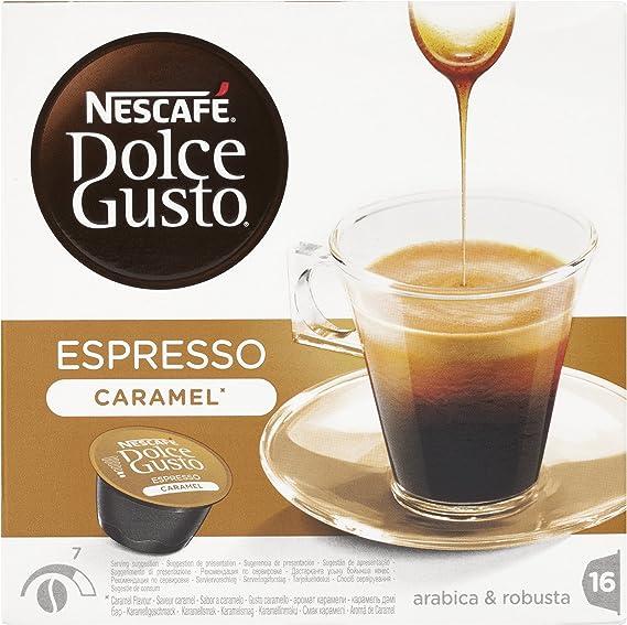 NESCAFÉ Dolce Gusto Cápsulas de Café Espresso Caramel, Pack de 3 x ...
