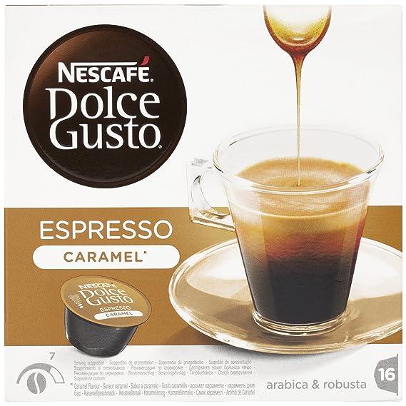 NESCAFÉ Dolce Gusto Cápsulas de Café Espresso Caramel, Pack de 3 x 16 Cápsulas -