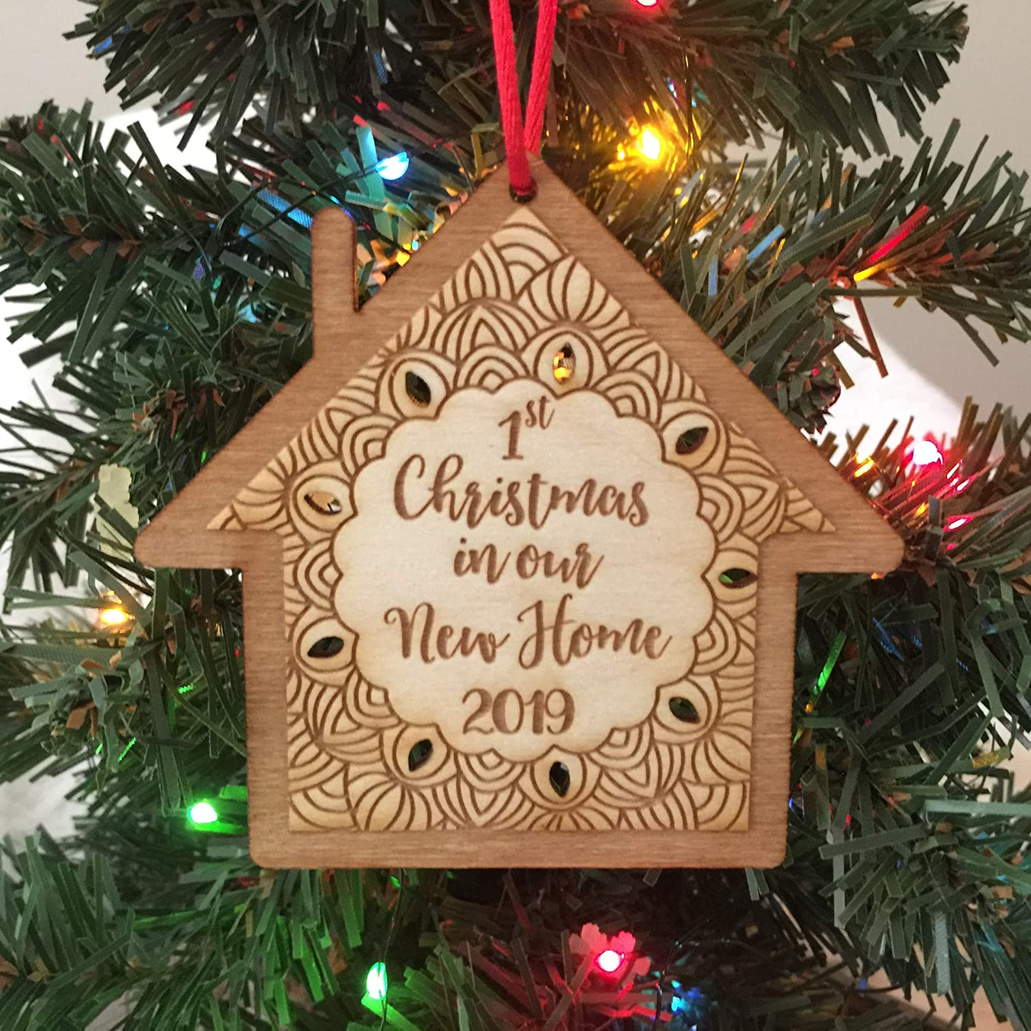 First Christmas.First Christmas In Our New Home 2019 Ornament