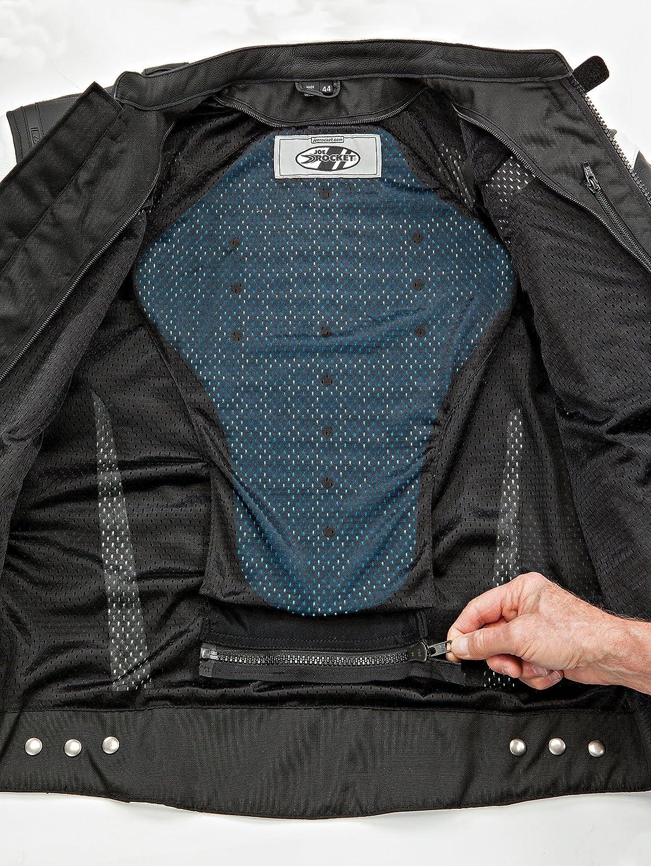 Black//White, Size 44 Joe Rocket Meta-X Mens Leather Motorcycle Jacket