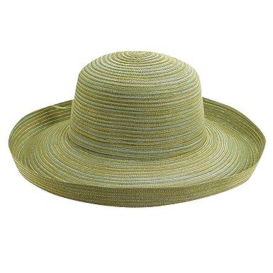 SCALA Stripe Brad Upturn Big Brim Sun Hat (Olive) at Amazon Women s  Clothing store  6478bda6e