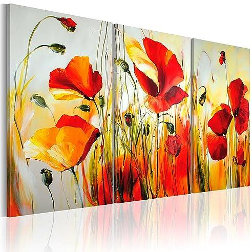 Murando - Handgemalte Bilder Auf Leinwand Blumen Mohn 120X80 Cm