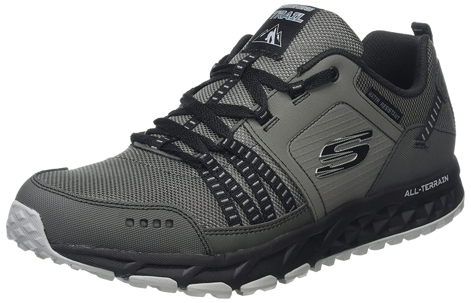Skechers Escape Plan, Zapatillas para Hombre 42 EU|Gris (Charcoal/Black)