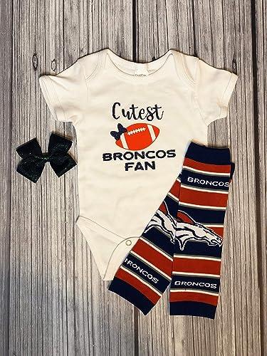 Amazon Com Cutest Denver Broncos Fan Infant Body Suit Outfit Handmade