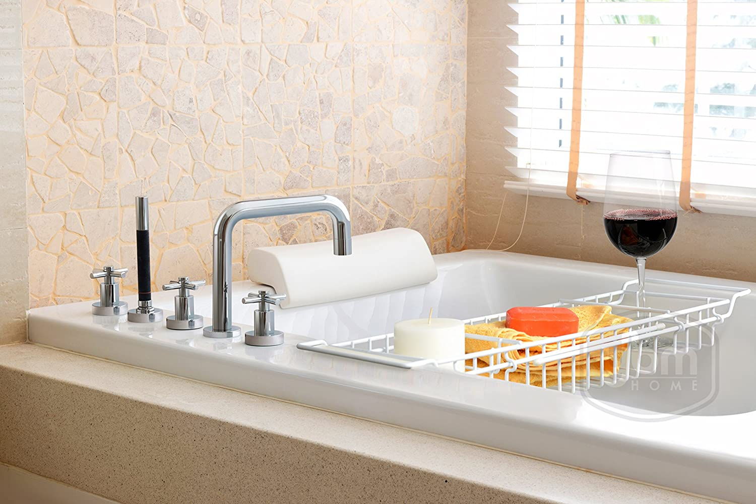 Amazon.com: Ybmhome Bathtub Caddy Tray with Extending Sides Shower ...