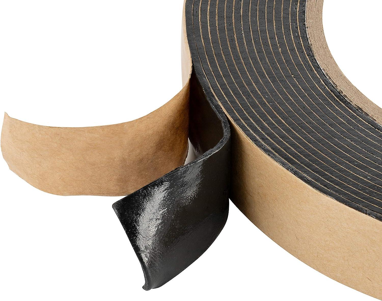 Poppstar doppelseitiges Butyl Klebeband 5m x 50mm x 1,6mm Dichtband selbstklebend schwarz