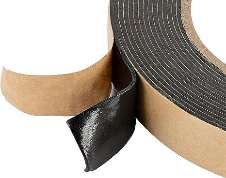 25m x 20mm x 1,6mm Poppstar doppelseitiges Butyl Klebeband Dichtband selbstklebend schwarz