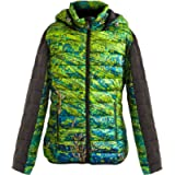 Lotus Dew Women's Puffer Jacket Hooded Ultra Light Weight Short Jacket