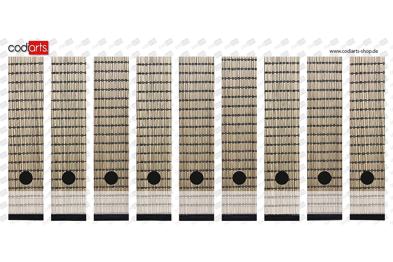 codiarts Set 9 Unidades Ancho Etiquetas de Carpetas - Esterillas Japón bambú Marrón - Autoadhesivo (Lomo de archivadores Adhesivos): Amazon.es: Hogar
