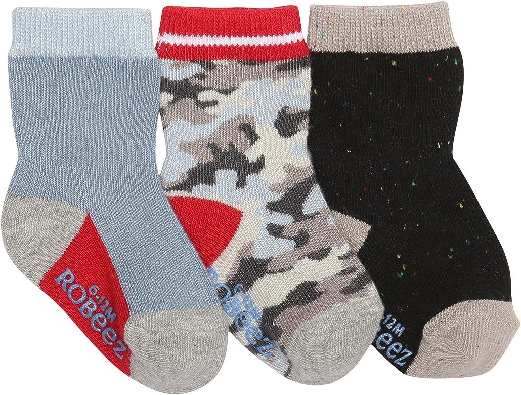 Robeez Baby Boys 3-Pack Socks