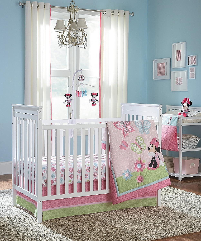 Disney Minnie 4 Piece Crib Bedding Set, Butterfly Charm by Disney   B00FB5PV1C