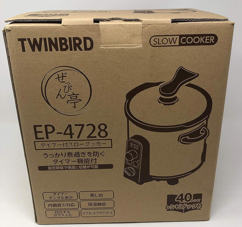 ツインバード タイマー付きスロークッカー ぜっぴん亭 EP-4728OR オレンジ   B00HWLI8SQ