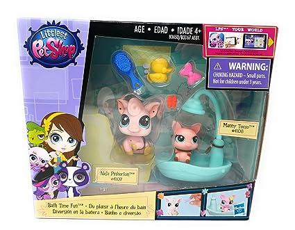 81fda8fab7dd Amazon.com: Littlest Pet Shop, Bath Time Fun Set [2 Pigs with Shower ...