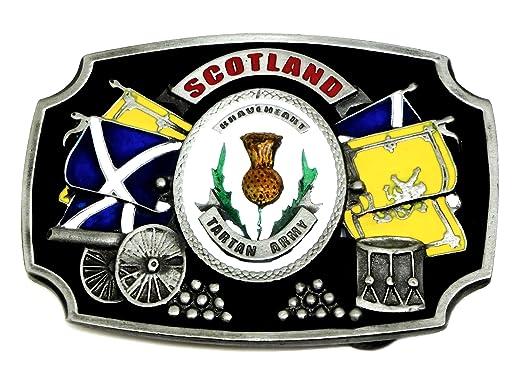 Écosse Boucle de Ceinture - Braveheart Tartan Army - Croix de St Andrew  Écossais Patriote - 89b8ed85740