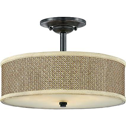 zen lighting design lamp quoizel ze1717k three light zen semiflush mountmystic black large