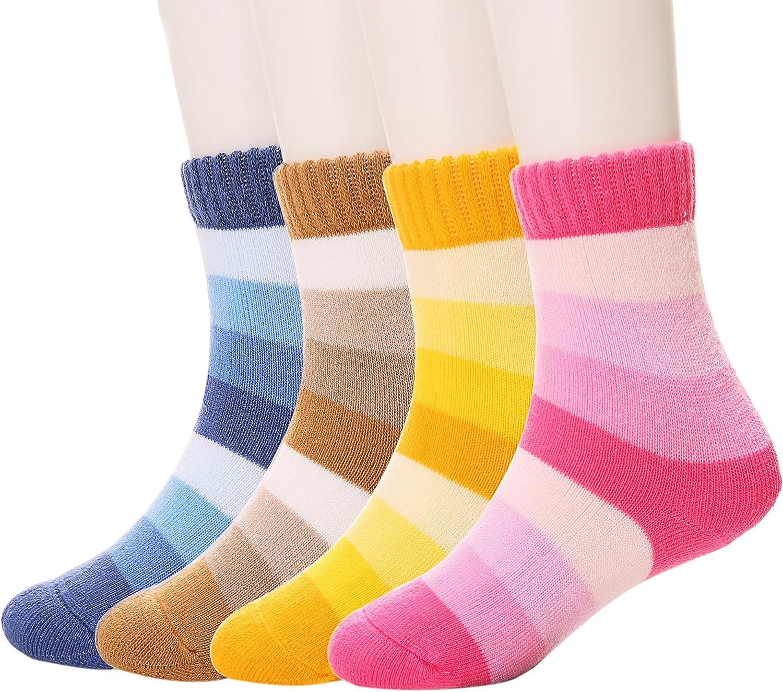Cute Smile Kids Boys Girls Children Non Slip Short Socks Thick Warm 3D 1-12 Year