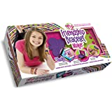 "Choose Friendship, My Friendship Bracelet Maker Kit (New Version) - Bracelet Craft Kit and ""Knot it"" App Patterns, 56 Threads"