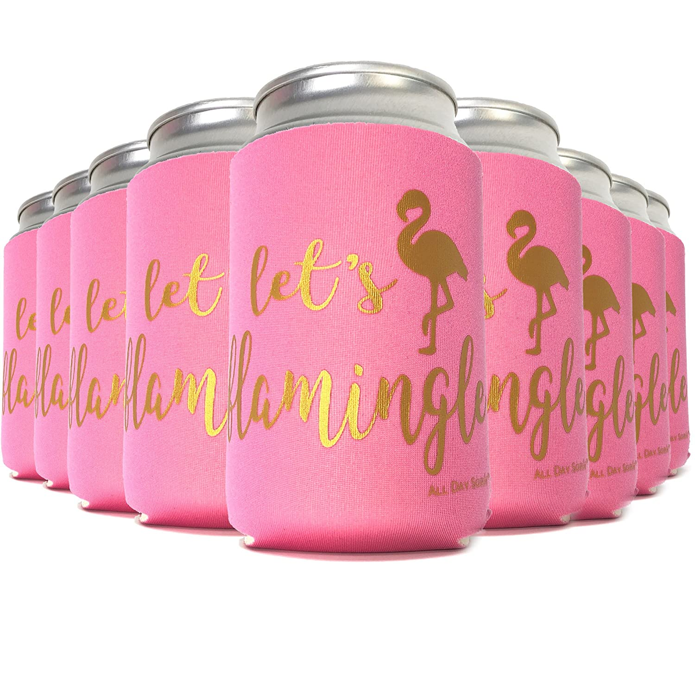 Amazon.com: Flamingo Party Supplies LET\'S FLAMINGLE 11 Can Cooler ...