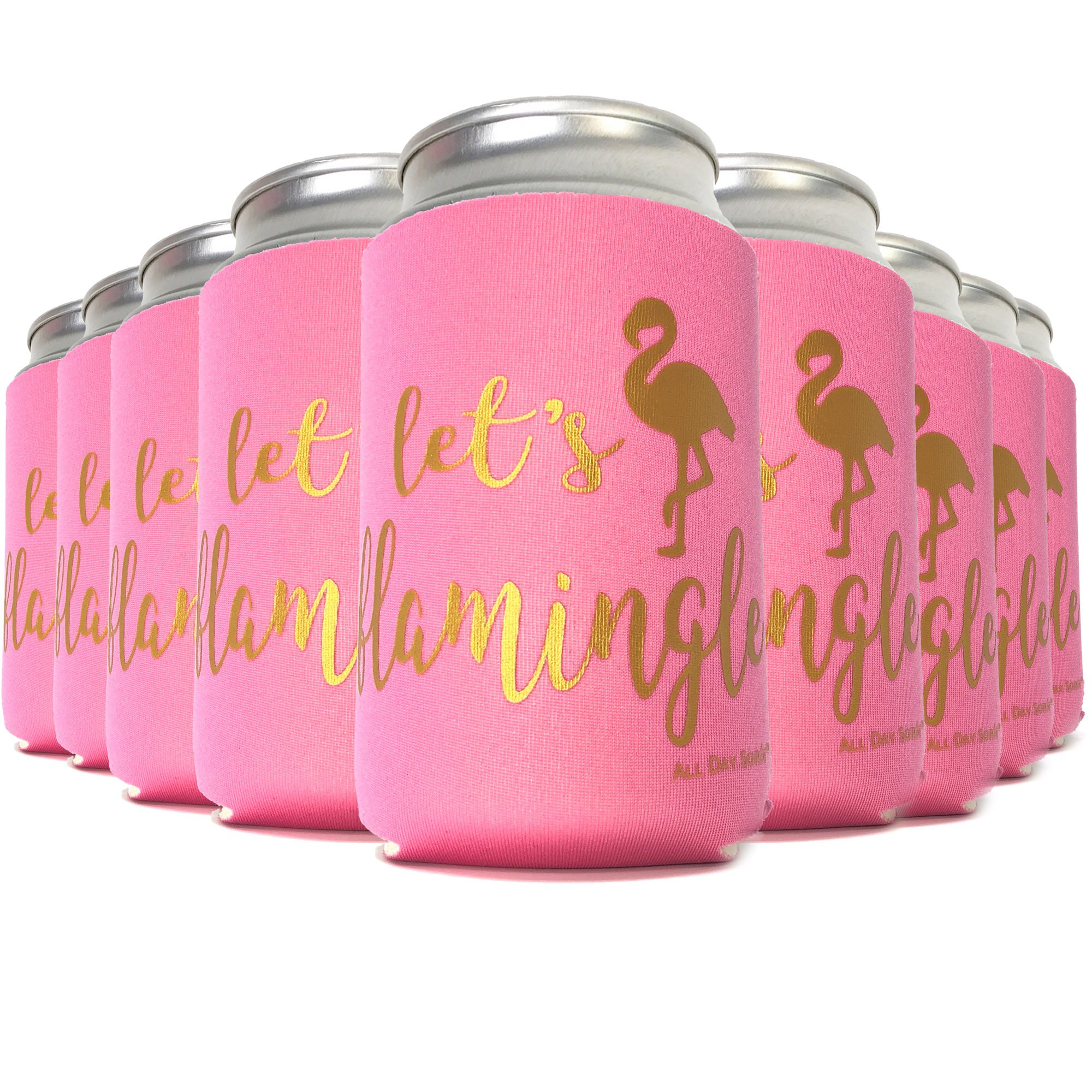 Amazon.com: Flamingo Party Supplies LET\'S FLAMINGLE 6 Can Cooler ...