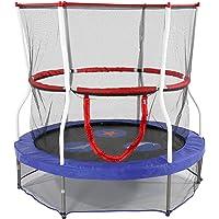 Skywalker - Minitrampolín con red de protección - trampolín para niños - Funciones de seguridad adicionales - Cumple o supera la ASTM - Hecho para durar - 101.60 cm, 121.92 cm, 152.40 cm, Azul, 152.4 cm