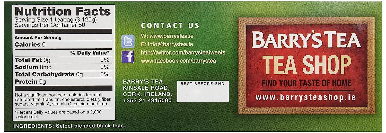 Barry's Irish Breakfast Tea, 80 Count Tea Bag