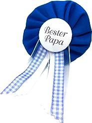 AnneSvea Orden - Bester Papa blau Anstecker Button Babyshower Babyparty hellblau blau Deko Bald Papa Dad to be