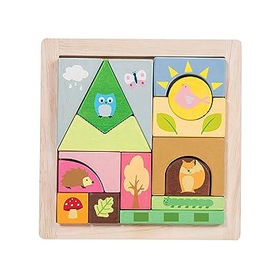 Petilou Le Toy van Woodland les blocs de puzzle
