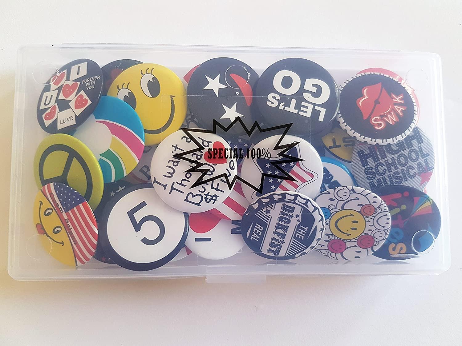 Special100/% Huge Wholesale Set of 30 New Pins//Buttons//Badges 80s Buttons pins Slogans Sayings pin,Lapel pin for Clothes//Bags//Backpack//Hats//Jeans and More.