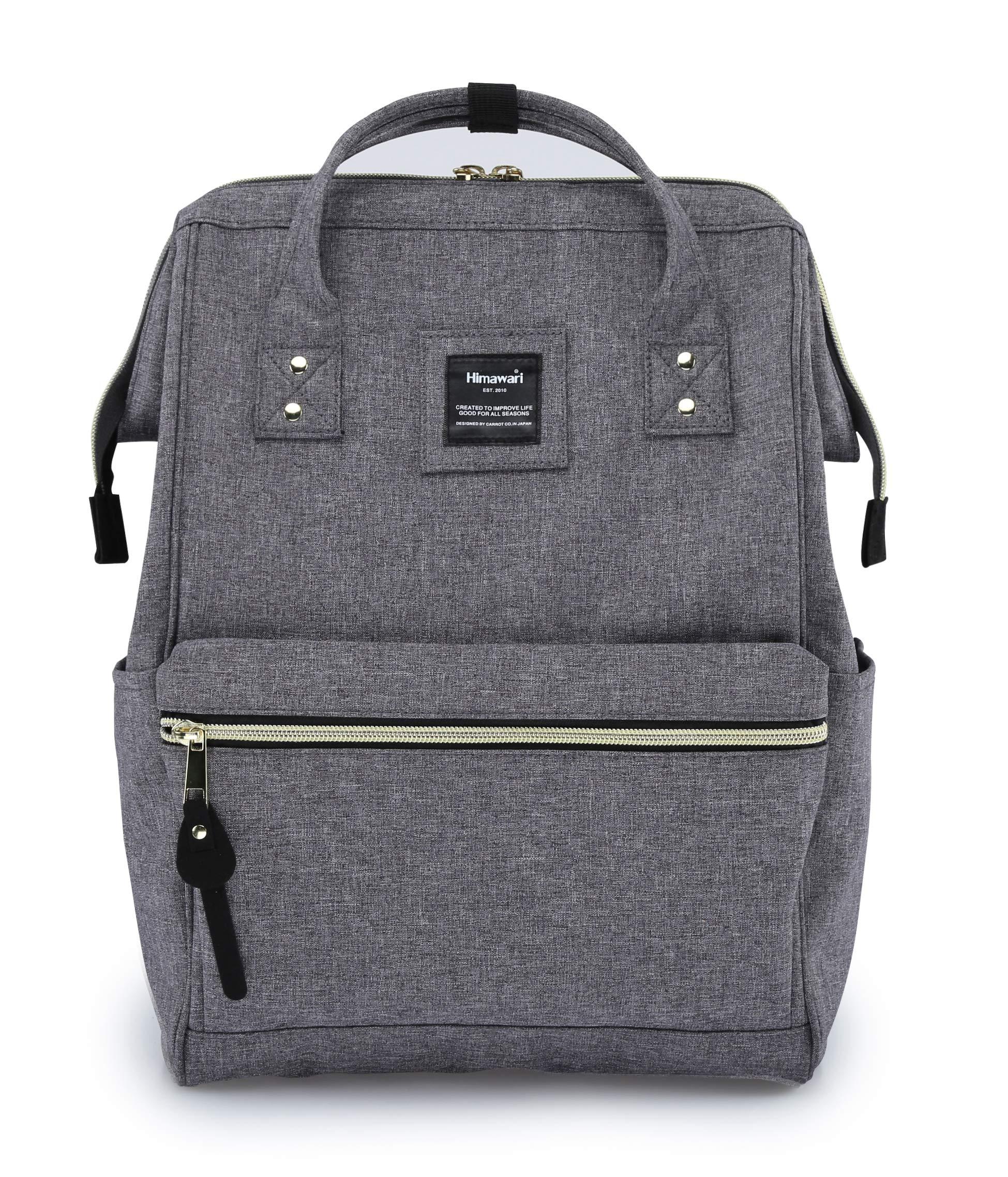 Himawari Travel Backpack With USB Charging Port Large Diaper Bag Doctor Bag School Backpack for Women&Men, College Student Rucksack Fits 13.6 Inch Laptop(USB Gray) by himawari