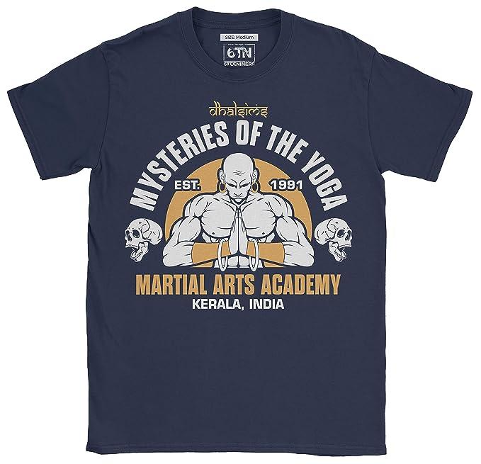 6TN Hombre Misterios de Dhalsims de la Academia de Artes Marciales de Yoga T Shirt