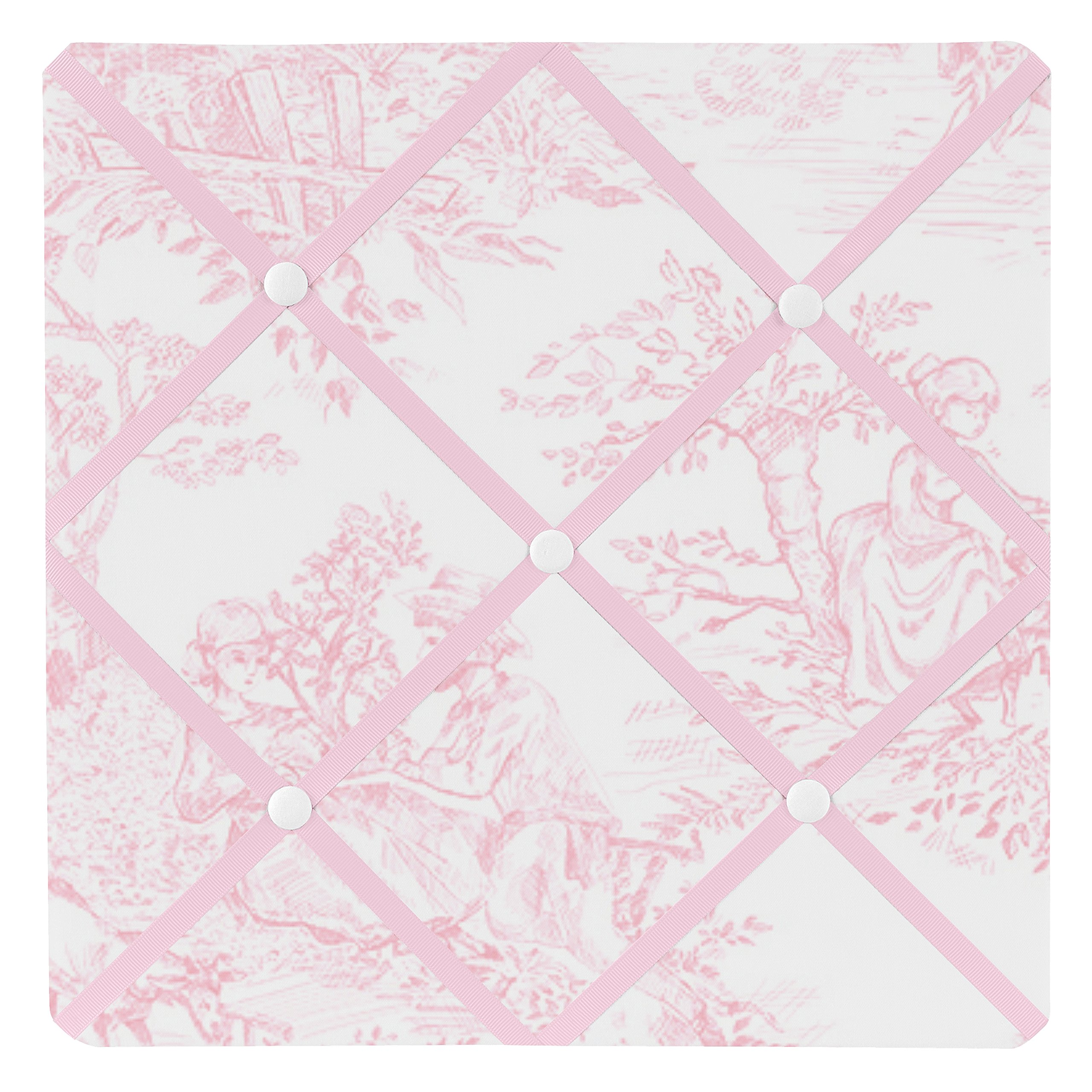 Sweet Jojo Designs Pink French Toile Fabric Memory/Memo Photo Bulletin Board