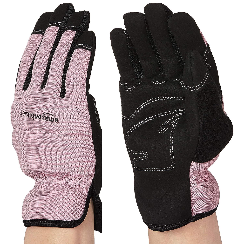 AmazonBasics Women's Work or Garden Gloves - Small, Pink