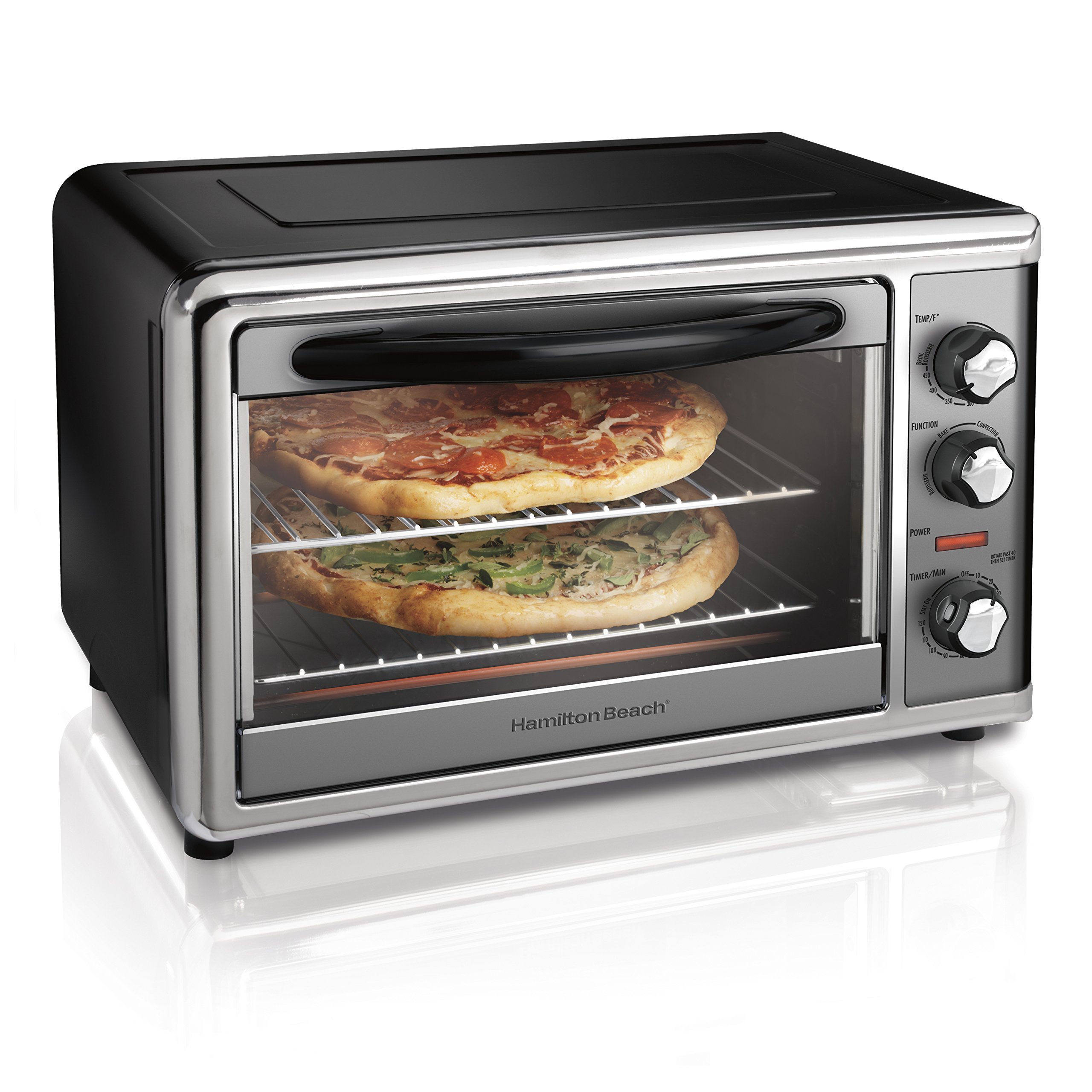 Hamilton Beach 31107D Countertop Oven with Convection & Rotisserie, Large, Stainless Steel by Hamilton Beach