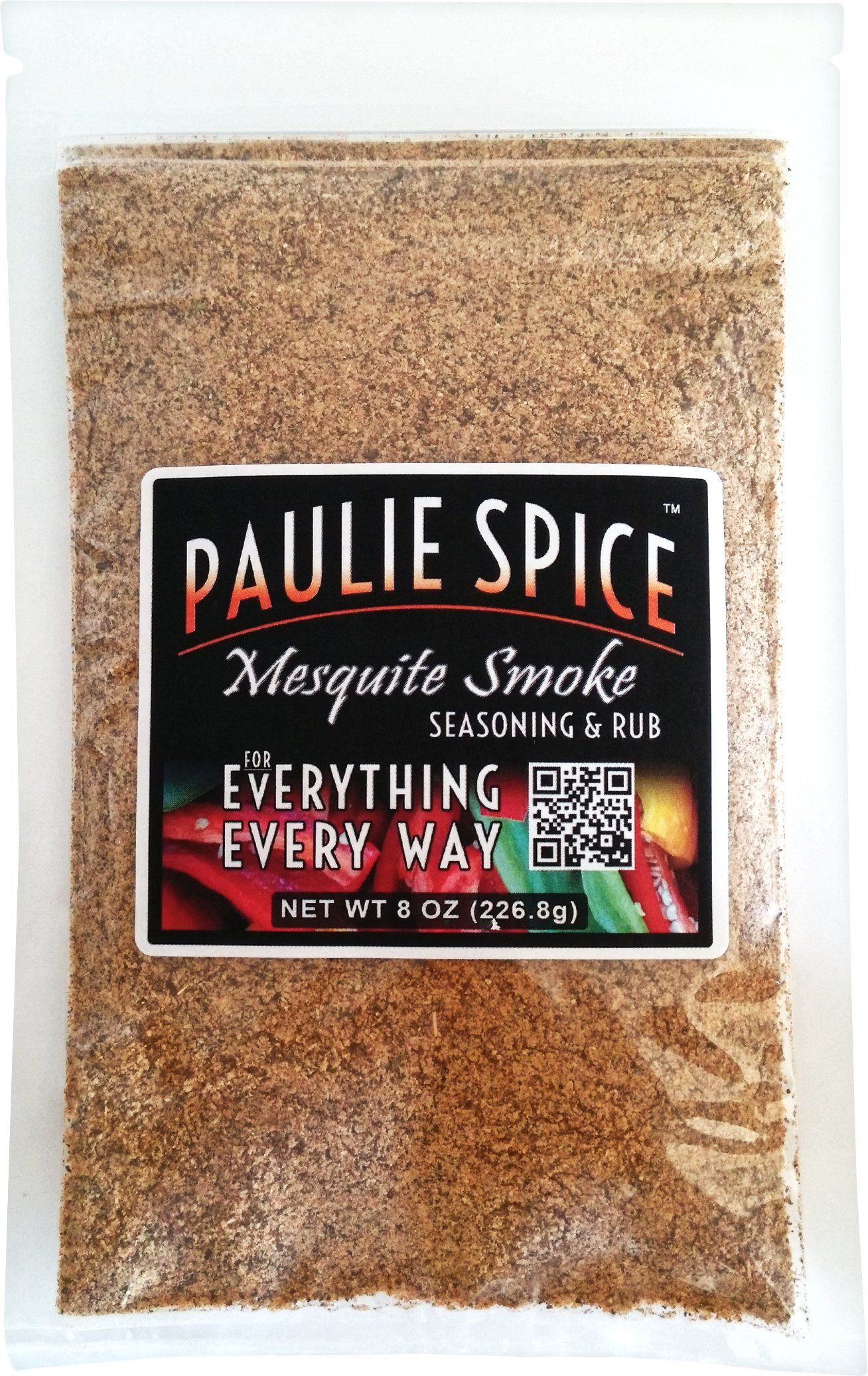 Paulie Spice : Sweet Mesquite Smoke BBQ Seasoning and Rub For: Steak, Ribs, Meat, Pork, Chicken, Wings, Salmon, Beef, Prime, Fish, Seafood, Grill, Barbecue, Smoked, Dry Rubs, Seasonings, Spices, 8 oz