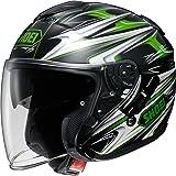 ショウエイ(SHOEI) バイクヘルメット ジェット J-Cruise CLEAVE(クリーブ) TC-4(GREEN/BLACK) S (頭囲 55cm)