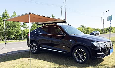 Tentproinc Heavy Duty SUV And Car Awning Protects From Harmful Sun Rain Includes Protective Waterproof