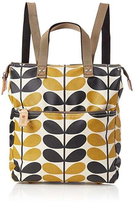 Womens Large Rucksack Messenger Bag Multicolour (Charcoal Blue) Orla Kiely
