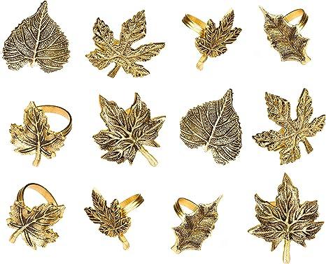 Leaf Napkin Rings Set of 8